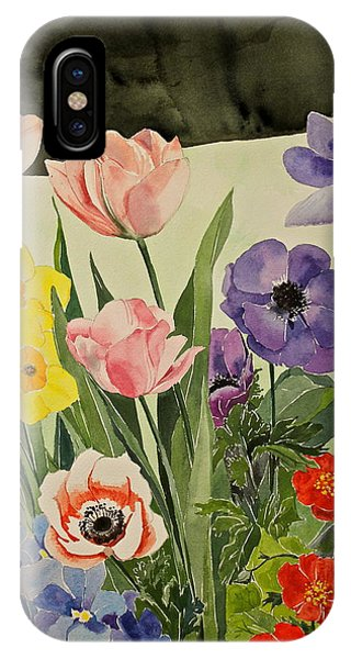 Colorful Flowers-posthumously Presented Paintings Of Sachi Spohn  IPhone Case