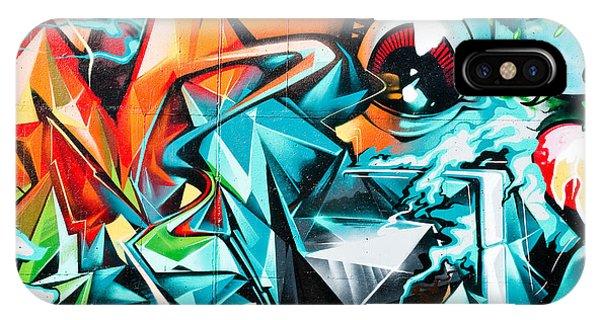 Colorful Graffiti Fragment IPhone Case