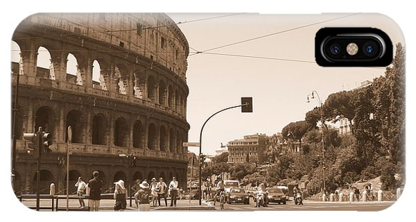 Colosseum In Sepia IPhone Case