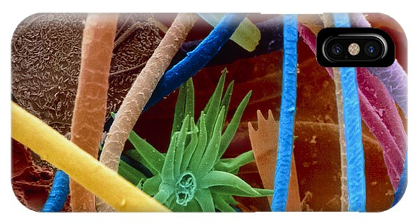 Coloured Sem Of Household Dust (allergens) Phone Case by Power And Syred