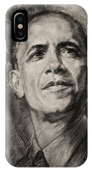 Barack Obama iPhone Case - Commander-in-chief by Ylli Haruni