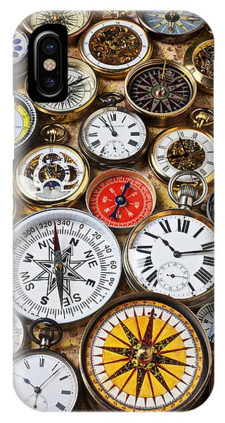 Navigation iPhone Case - Compases And Pocket Watches  by Garry Gay