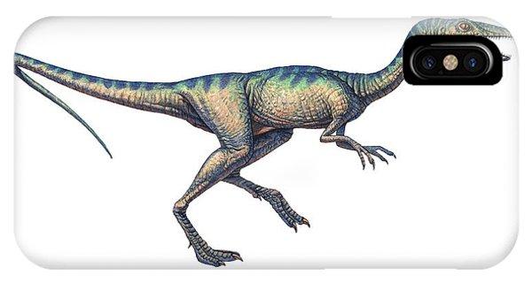 Compsognathus Dinosaur, Computer Artwork Phone Case by Joe Tucciarone