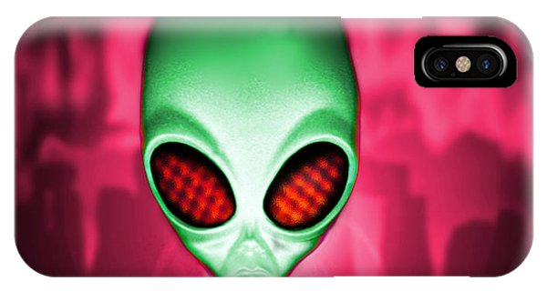 Computer Artwork Of An Alien Or Extraterrestrial Phone Case by Victor Habbick Visions