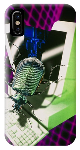 Computer Artwork Representing The Millennium Bug Phone Case by Victor Habbick Visions