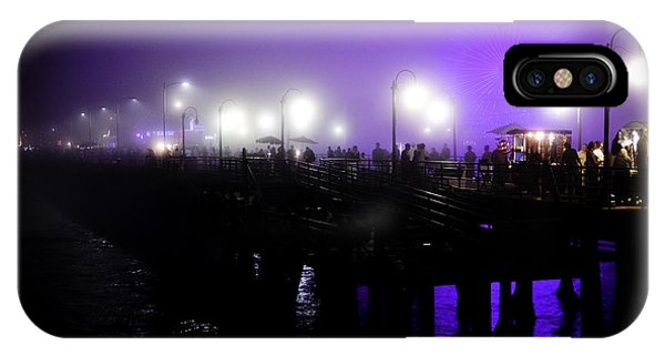 Cool Night At Santa Monica Pier IPhone Case