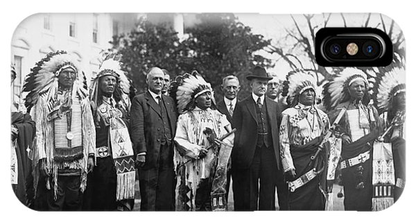 Coolidge With Native Americans IPhone Case