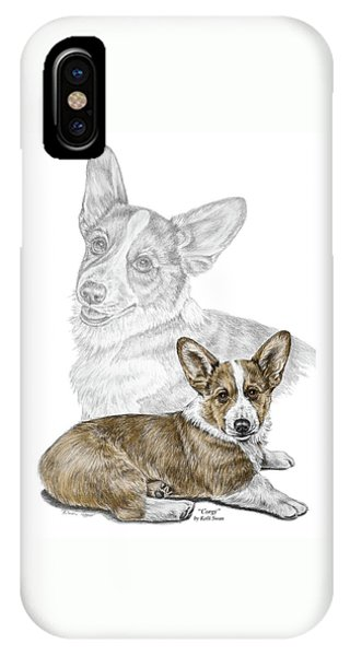 Corgi Dog Art Print Color Tinted IPhone Case