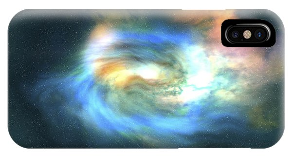 Light Speed iPhone Case - Cosmic Space Image Of The Universe by Corey Ford