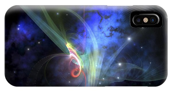 Light Speed iPhone Case - Cosmic Strands Of Gaseous Filament by Corey Ford