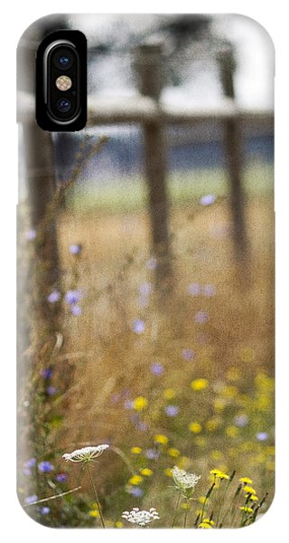 Country Fence Phone Case by Rebecca Cozart