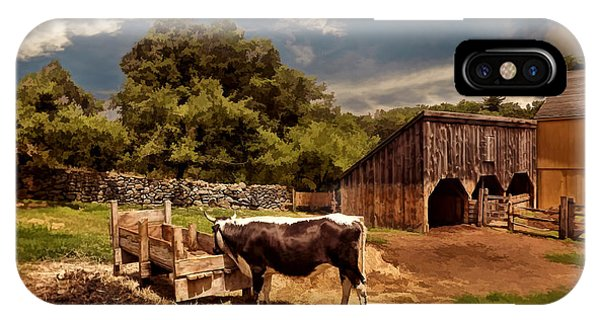 New England Barn iPhone Case - Country Life by Lourry Legarde