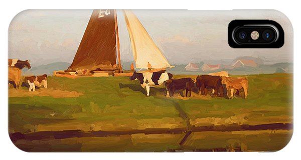Cows And Sails IPhone Case