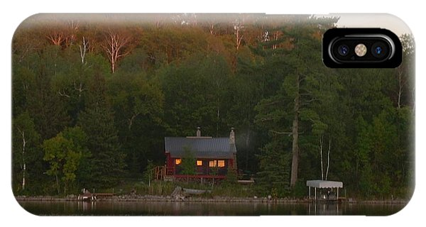 Cozy Cabin Sunset Soaked IPhone Case