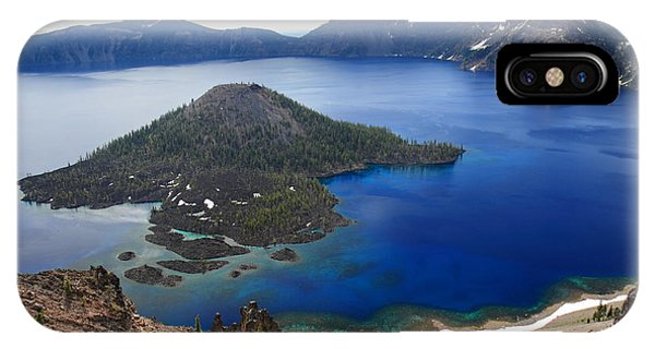 Crater Lake Wizard Island Phone Case by Pierre Leclerc Photography