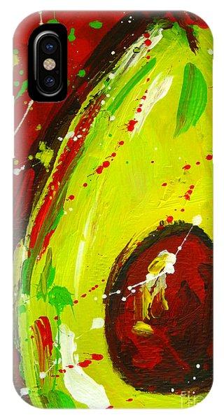 Crazy Avocado 3 - Modern Art IPhone Case