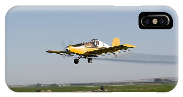 Crop Duster Flying Over Farm  IPhone Case