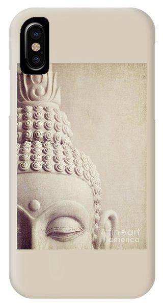Cropped Stone Buddha Head Statue IPhone Case