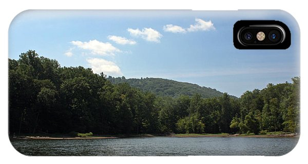 Catoctin Mountain Park iPhone Case - Cunningham Falls State Park - Hunting Creek Lake Against The Catoctin Mountains by Ronald Reid