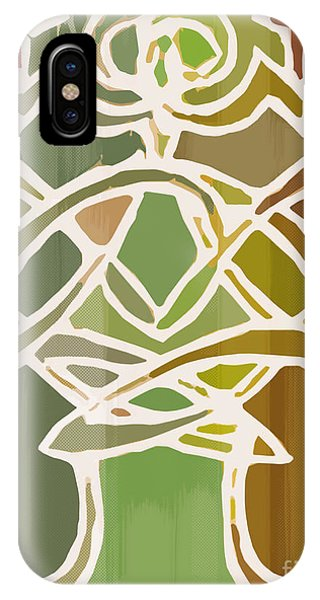 Unique Earthy Ethnic Woman Abstract Print For Interior Design Phone Case by Marie Christine Belkadi