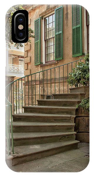 Curved Steps In Savannah IPhone Case
