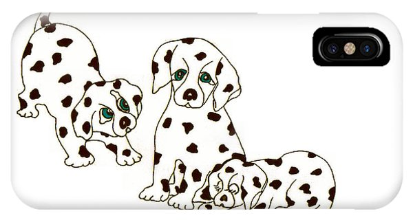 Dalmatian Puppies IPhone Case