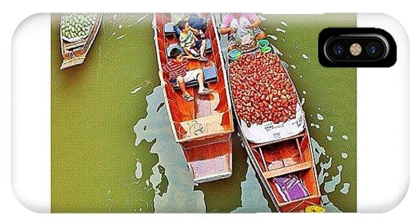 Famous Artist iPhone Case - Damnoen Saduak Floating Market Bangkok by Tommy Tjahjono