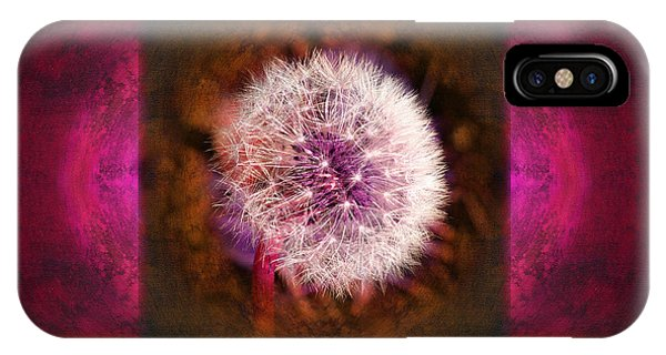 Dandelion In Flame Phone Case by Laura Iverson