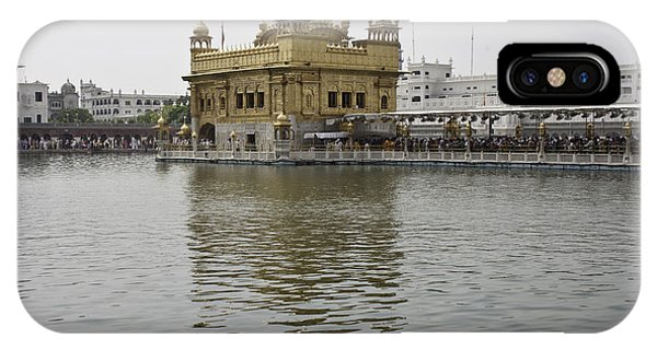 Darbar Sahib And Sarovar Inside The Golden Temple IPhone Case