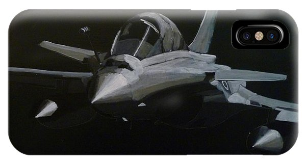 IPhone Case featuring the painting Dassault Rafale by Richard Le Page