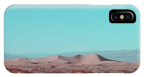 Death Valley iPhone Case - Death Valley Dunes 2 by Naxart Studio