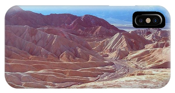 Death Valley iPhone Case - Death Valley Mountains 2 by Naxart Studio