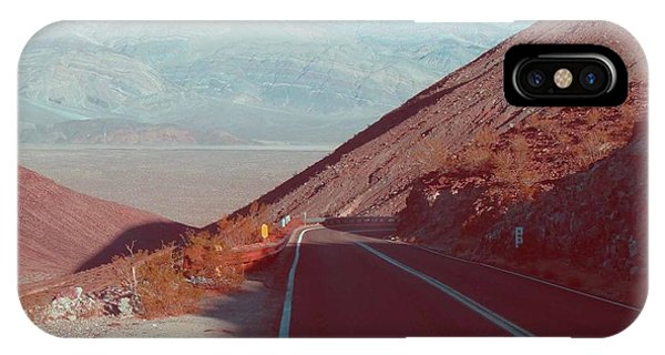 Death Valley iPhone Case - Death Valley Road 3 by Naxart Studio