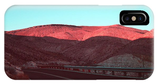 Death Valley iPhone Case - Death Valley Road 4 by Naxart Studio
