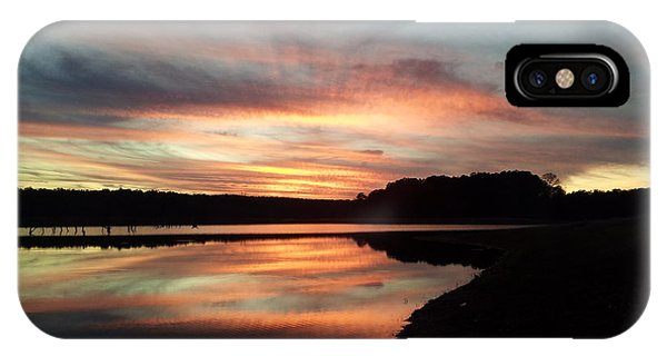 Lake Juliette iPhone Case - December Sunset At Lake Juliette by Donna Brown