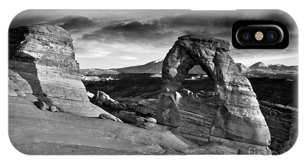 Delicate Arch Bw IPhone Case