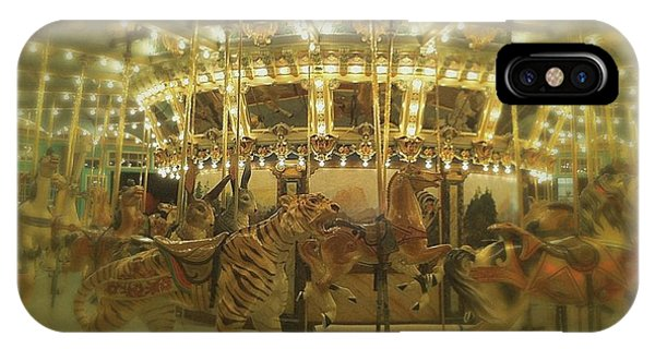 Dentzel Carousel At Glen Echo Park Maryland IPhone Case