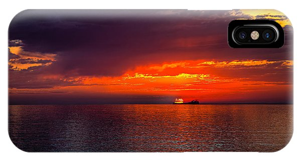 Departing At Dawn IPhone Case