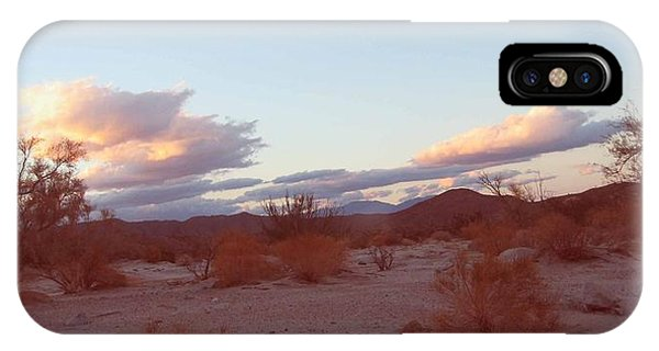 Death Valley iPhone Case - Desert And Sky by Naxart Studio