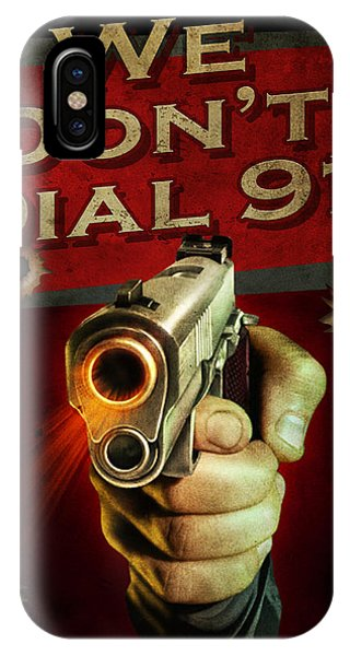 Shooting iPhone Case - Dial 911 by JQ Licensing