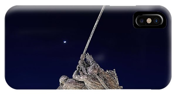 Digital Drawing - Iwo Jima Memorial At Dusk IPhone Case