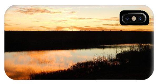 Dixon Reservoir Sunrise Phone Case by Sara  Mayer