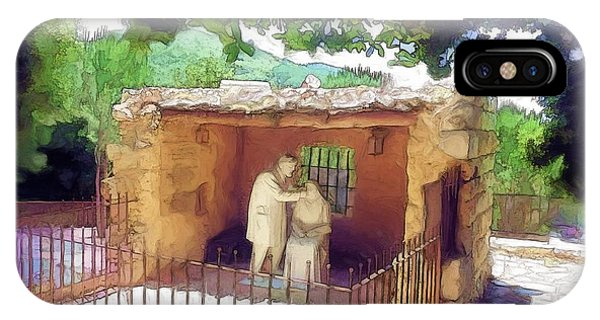 Do-00500 St Rafqa Statue IPhone Case