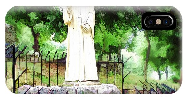 Do-00541 St Charbel Statue IPhone Case