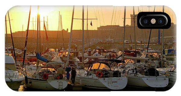 Navigation iPhone Case - Docked Yachts by Carlos Caetano