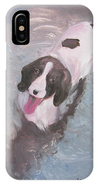 Dog In River IPhone Case