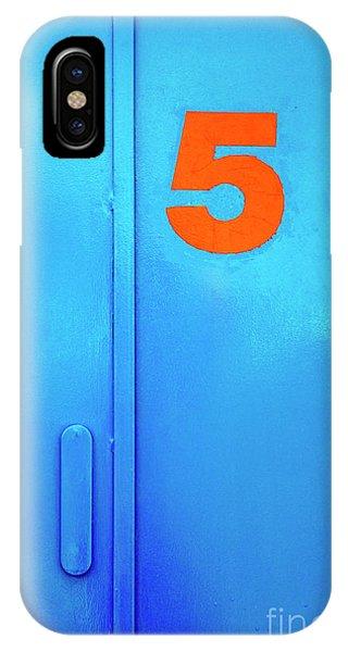 Blue iPhone Case - Door Five by Carlos Caetano