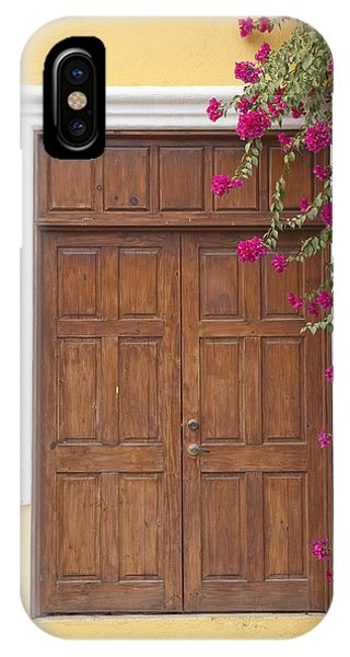 Door With Flowers IPhone Case