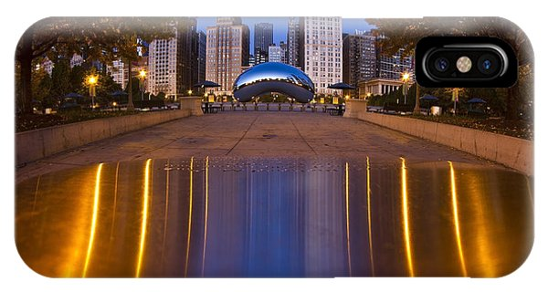 down the aisle toward Cloudgate IPhone Case