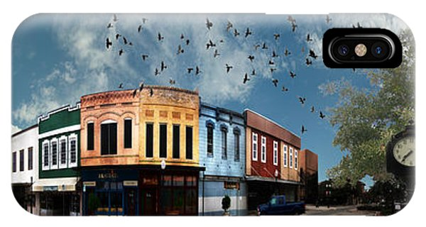 Aggie iPhone Case - Downtown Bryan Texas 360 Panorama by Nikki Marie Smith